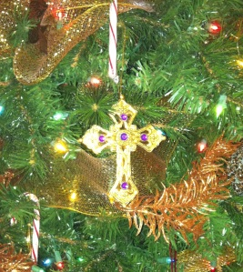 Christmas 2013 - Gold Bejeweled Cross