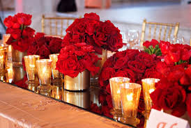 red and gold small decor